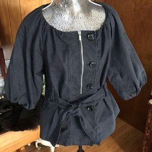BCBG Navy Cotton Jacket
